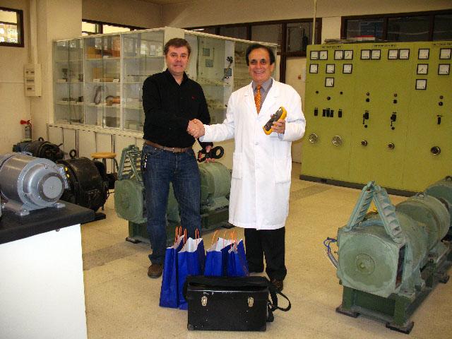 Recepción en el laboratorio de máquinas eléctricas