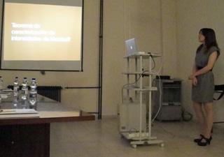 Exposición de tesis por la doctoranda